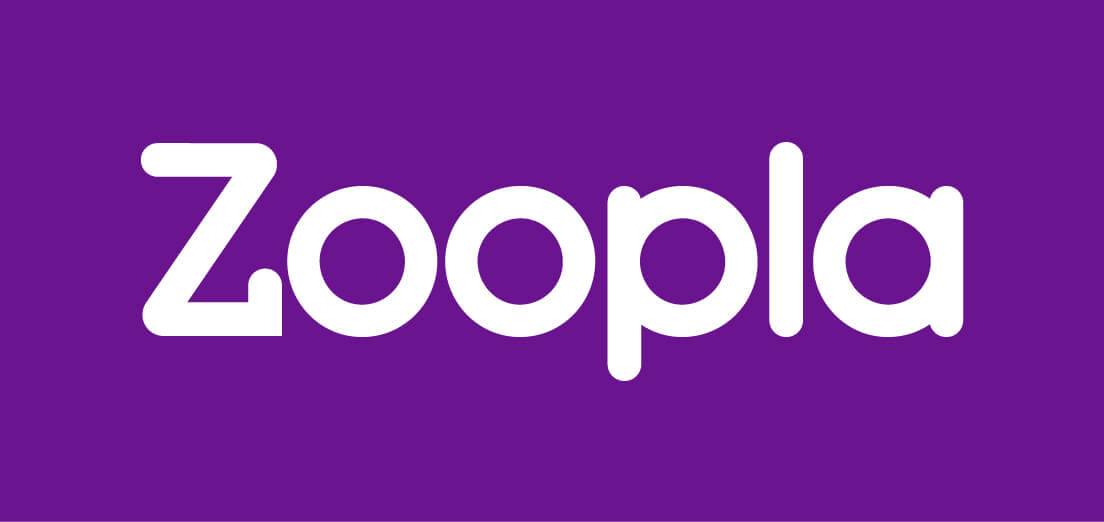 Zoopla logo - purple on white