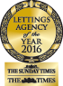 2016 Lettings Agency of the year awards