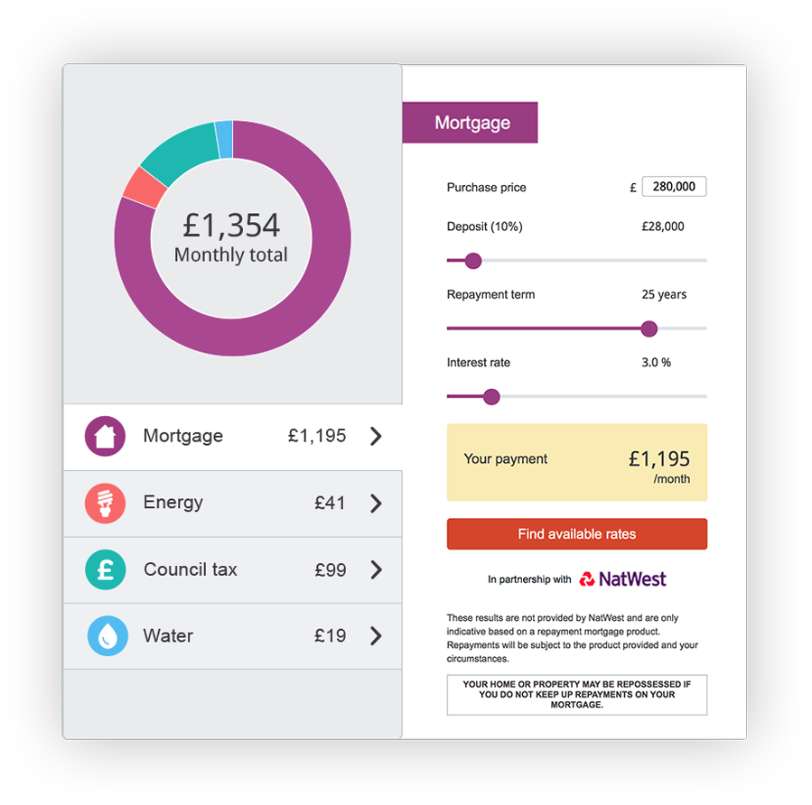 Now on Zoopla whilst you search, you can view the running costs of a  property* and get an idea of what you could expect to spend on monthly bills,  ...